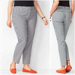 Talbots hampshire ankle gingham dress pants 12